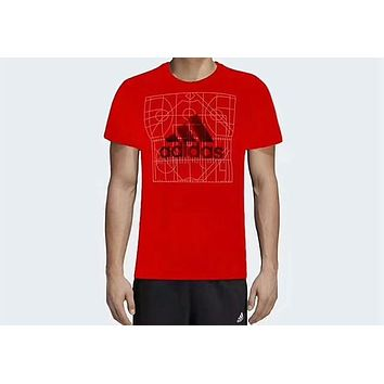 ADIDAS counter summer new sports leisure breathable T-shirt F-ADD-MRY Red