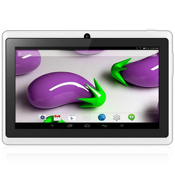 7 inch Q88H A33 Android 4.4 Tablet PC WVGA Screen A33 Quad Core 1.2GHz 4GB ROM Dual Cameras Gravity Sensing /WiFi /Bluetooth