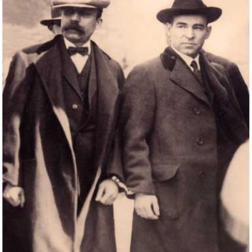 Sacco and Vanzetti Portrait Poster 11x17