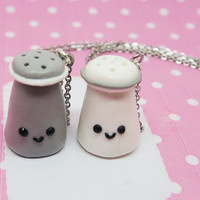 Pepper and Salt Shaker Friendship necklaces