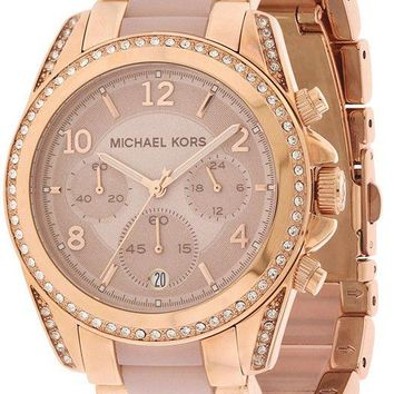 Michael Kors Women's Blair Chrono 100m Rose Gold Stainless Steel Watch MK5943