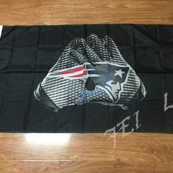 New England Patriots  flag 100D Polyester flag 90x150cm NFL custom american football gloves flag