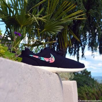 Roshe Custom Hawaiian Floral Made to Order Mens Nike Rosherun Shoes