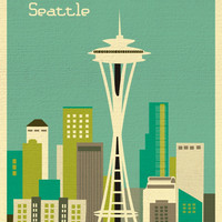 Seattle, Washington - Teal