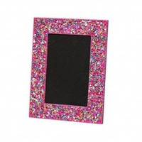 Wake Up Frankie - Glitzy Glitter Picture Frame - Multi/Pink : Teen Bedding, Pink Bedding, Dorm Bedding, Teen Comforters