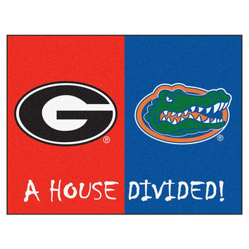 Florida Gators-Georgia Bulldogs NCAA House Divided NCAA All-Star Floor Mat (34x45)