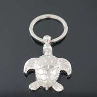 New Fashion Creative Model Turtle Keychain Popular Versatile Metal Key Ring Key Chain