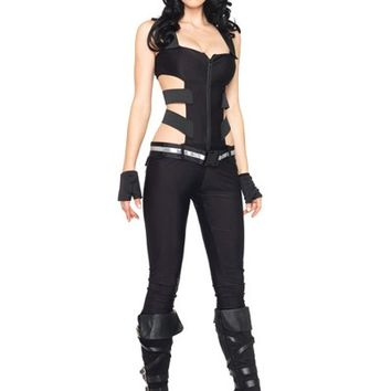 Black 4 PC SWAT Sniper Costume @ Amiclubwear costume Online Store,sexy costume,women's costume,christmas costumes,adult christmas costumes,santa claus costumes,fancy dress costumes,halloween costumes,halloween costume ideas,pirate costume,dance costume,c