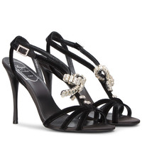 Sin Evening Diamond Embroidery Sandals | Store Roger Vivier