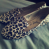 Spiked and Studded Leopard Vintage Flats Hellraisers