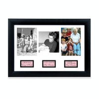 Great-Grandma Life Story Blk Frame Photo Openings - Engravable Grandmother Gift
