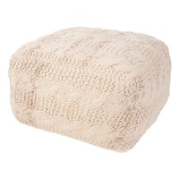 Jaipur Wool Cable Knit Pouf | Nordstrom