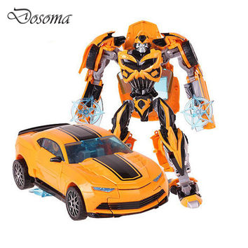 Robot Car Transformation Toys Kids Bumblebee Toy Anime Transformation Robot Action Figure Mobel Christmas Gift For Children
