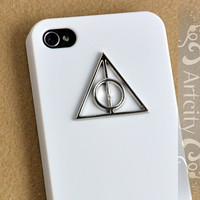 Steampunk Harry Potter Deathly Hallows Iphone Case, Iphone 4 case, Iphone 4s Case, White iphone case Cover, Hard case