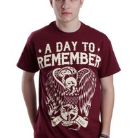 A Day To Remember - Vulture Maroon - T-Shirt