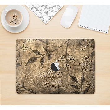 """The Brown Aged Floral Pattern Skin Kit for the 12"""" Apple MacBook"""