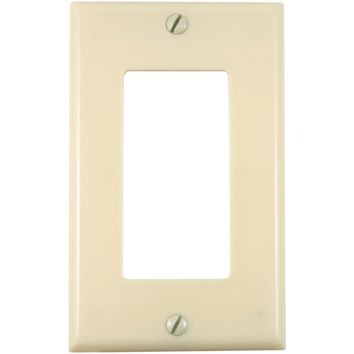 UNION 80401-I Residential-Grade Decor Wall Plate (Single gang, Ivory)