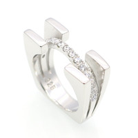 Trendy 925 Sterling Silver Cubic Zirconia Rings