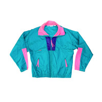 Classic 80s Columbia Wind Jacket - L