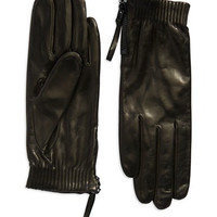 Vince Camuto Zip Elastic Cuffed Gloves