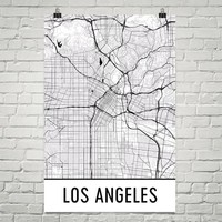 Los Angeles CA Street Map Poster