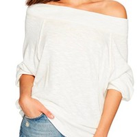 free people - palisades thermal off-the-shoulder top - more colors