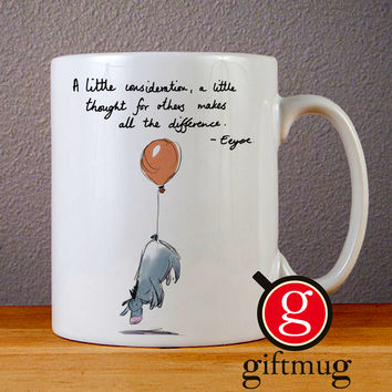 Eeyore Balloon Tail Ceramic Coffee Mugs