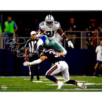 EZEKIEL ELLIOTT SIGNED COWBOYS 16X20 PHOTO FRAMED COA AUTOGRAPH DALLAS