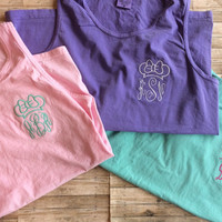Monogrammed Minnie Mouse Tank ~ Disney Tank ~ Personalized Tank ~ Comfort Color Tank ~ Super CUTE