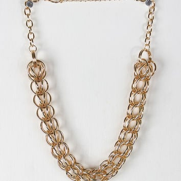 Woven Link Chain Necklace Set