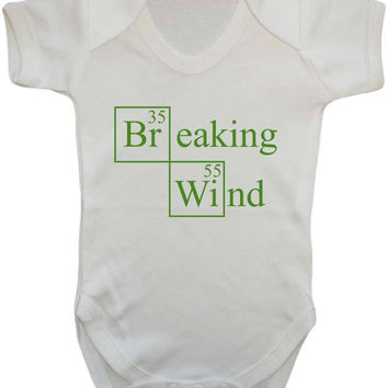 Breaking Wind Breaking Bad Parody Gassy Baby Burps Joke Baby Onesuit Vest