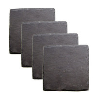 Country Home: Square Slate Coasters Set