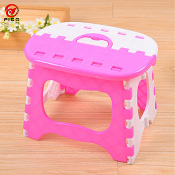 Load-bearing 40kg children Folding Chair Portable Outdoor Child Camping Picnic Step Stool Plastic Foldable chairs ZL297