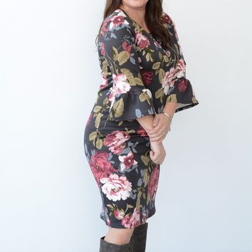 Work for the Weekend Floral Dress