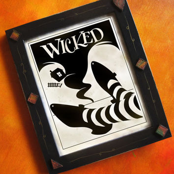 Wizard of Oz Art Print Wicked by DexMex on Etsy