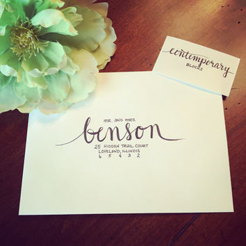 Calligraphy/Hand Lettered Envelopes for Wedding Invitations