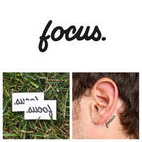 Quotes - Focus - Temporary Tattoo (Set of 2)