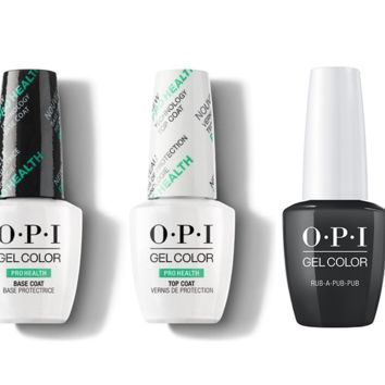 OPI - GelColor Combo - Base, Top & Rub-a-Pub-Pub