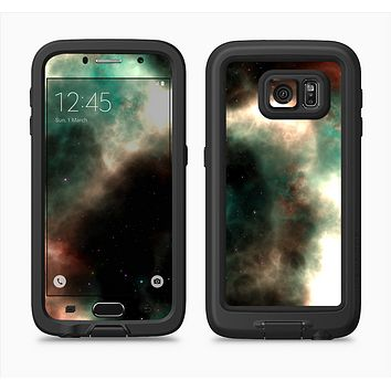 The Dark Green Glowing Universe Full Body Samsung Galaxy S6 LifeProof Fre Case Skin Kit