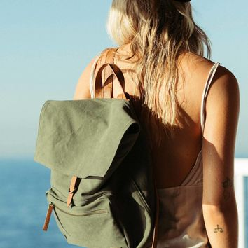Back To Back Canvas Backpack