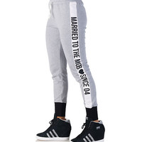 SINCE 04 SWEAT PANT - Grey - MARRIED TO THE MOB