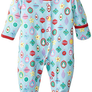 JoJo Maman Bebe Baby-Girls Newborn Bauble Sleepsuit