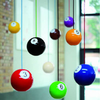 Switched On Set: Pool Ball pendant lights by Pulz Lab