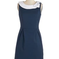 Myrtlewood Mid-length Sleeveless Sheath Extraordinary Executive Dress