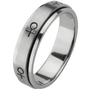DCCKU3R Female Symbol Spinner Ring