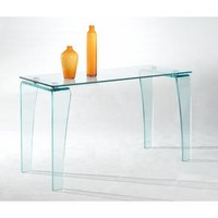 Chintaly Vera Sofa Table In Clear Glass