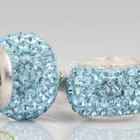 Authentic genuine real Swarovski turquoise crystal by floridabeads