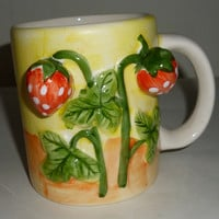 3D Strawberry Plant Fruit Coffee Mug