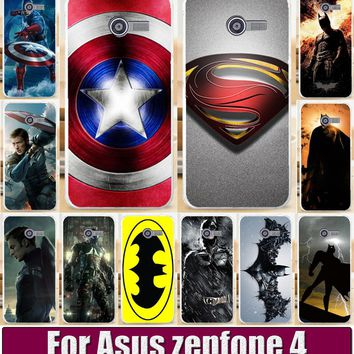 COOL Batmen BAT MAN SuperMen America Caption Hard Back Cover Case For ASUS Zenfone4 Zenfone 4 A400CG Mobile Phone Shell Cover