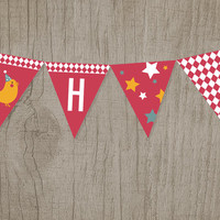 Printable Kids' Party Bunting Banners: Zoo [Instant Download]